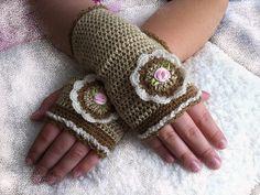Hand warmersHandworkHandmadeHand knittedfingerless by ewairena, €12.00