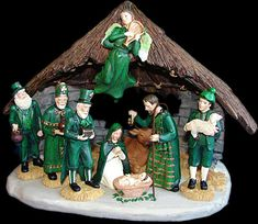 "This blog is titled 27 Worst Nativity Sets, but ""worst"" is a subjective term. I applaud those who march to the beat of a different drummer, and especially those with a sense of humor. Irish Nativity"