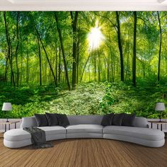 Cheap photo wallpaper Buy Quality wallpapers for living room directly from China photo wallpaper Suppliers: Custom Photo Wallpaper Stereoscopic Space Green Forest Trees Nature Landscape Large Mural Wallpaper For Living Room Modern Living Room Forest Wallpaper, Dining Room Wallpaper, Living Room Background, Bedroom Wallpaper, 3d Wallpaper Mural, Landscape Wallpaper, Photo Wallpaper, Nature Wallpaper, Wallpaper Paste