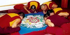 tibet monks   Tibetan monks working on a sand mandala