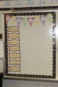 love the banner! it's little things like this that make a classroom a more comfortable environment