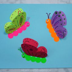Butterfly Crafts for Preschoolers – great summer crafts for… Butterfly Crafts. Butterfly Crafts for Preschoolers – great summer crafts for kindergarten and up. love these adorable Butterfly Activities Paper Butterfly Crafts, Paper Butterflies, Butterfly Cards, Butterfly Wings, Flower Crafts, Paper Crafts, Butterfly Makeup, Butterfly Mobile, Butterfly Dragon