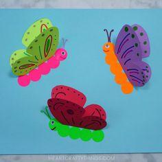 okulöncesi 3 boyutlu kelebek