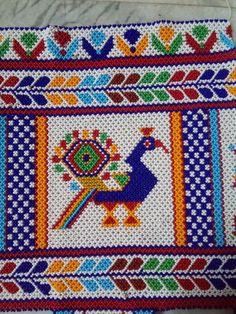 Russian Embroidery, Embroidery Hoop Art, Beaded Embroidery, Embroidery Designs, Beaded Crafts, Diy Crafts, Beaded Wedding Jewelry, Crochet Crocodile Stitch, Colorful Rangoli Designs
