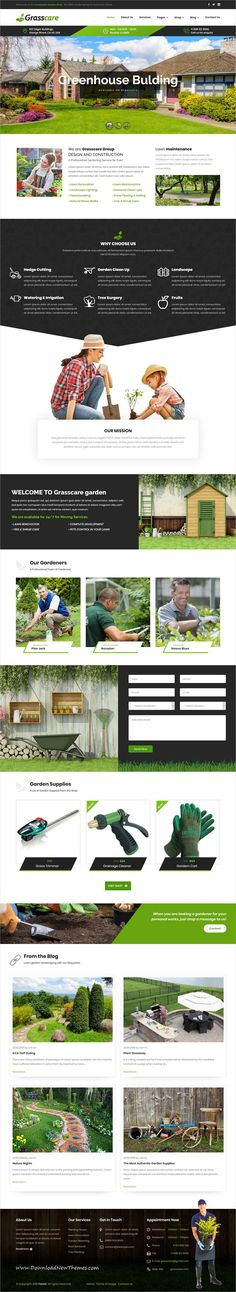 GrassCare is a clean and modern design responsive #WordPress theme for awesome #gardening and #lawn services #website to download & live preview click on image or Visit #webdev