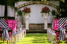 Gorgeous pop of color for a spring or summer ceremony. @lbl_event_rentals