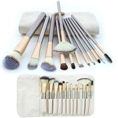 Hotrose® 12pcs Makeup Brush Powder Foundation Blush Eyeshadow Eyeliner Brush Set  Bag * Continue to the product at the image link.