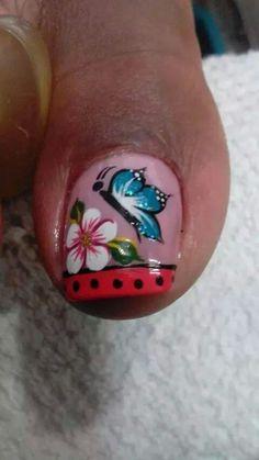 Para pies, hermosas Pretty Nail Designs, Toe Nail Designs, Pretty Toes, Pretty Nails, Summer Toe Designs, Toe Polish, Feet Nails, Halloween Coloring, Toe Nail Art