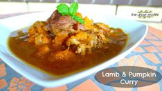 Slow Cooker Lamb and Pumpkin Curry with Minted Yoghurt & Turmeric Cauliflower Rice