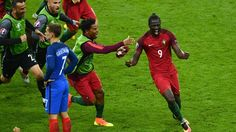Portugal have won Euro 2016 after Eder's superb extra-time strike gave them a victory over hosts France in Paris, despite Cristiano Ronaldo coming off injured in the first half. Portugal Vs France, Portugal Soccer, Uefa Euro 2016, We Are The Champions, Thing 1, European Championships, Sports Figures, Cristiano Ronaldo, Sports News