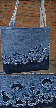 Sewing bags denim handbags ideas – purses and handbags diy Sacs Tote Bags, Denim Tote Bags, Denim Purse, Denim Bags From Jeans, Sewing Jeans, Denim Crafts, Patchwork Bags, Crazy Patchwork, Patchwork Patterns