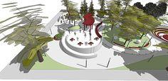 CC_UI Arq. Urbana_Proyect Diseño espacio público_201602 on Los Andes Portfolios Urban Landscape, Landscape Design, Behance, Christmas Tree, Branding, Holiday Decor, Creative, Illustration, Goal