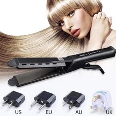 flat iron waves Description: This revolutionary Hair Brush Comb will have your hair straight, silky and soft within minutes. Designed to drastically reduce static and protect against bu Dry Hair, Hair Brush, How To Make Hair, Make Up, Flat Iron Waves, Professional Hair Straightener, Nano Titanium, Hair Straightening Iron, Curling Iron