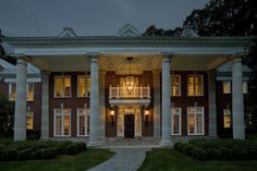 Front entry Hedges Landscaping, Front Entry, Landscape Design, Mansions, House Styles, Home Decor, Decoration Home, Manor Houses, Room Decor