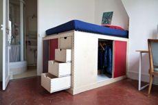 Optez pour un lit déco deux-en-un, avec dressing intégré par Benoît Thierry de Ville d'Avray et Matthieu Seigneuret - Chronique Deco