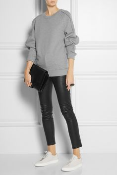 Chalayan | Piped cotton-jersey sweatshirt | NET-A-PORTER.COM