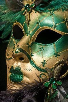 Green Carnivale Mask