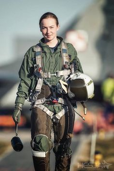 Female military pilot