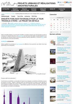Enquête publique favorable pour la Tour Triangle à Paris : le projet en détails | Projets Architecture Urbanisme  #TourTriangle