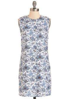 Bloom-er or Later Dress. Bring a bit of springtime delight to any season by sporting this floral shift dress from British cult brand Motel! #blue #modcloth
