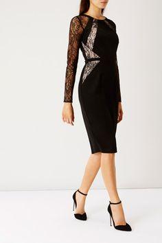 Short Dresses / Black LEONORIA LACE PANEL DRESS  / Coast Stores Limited