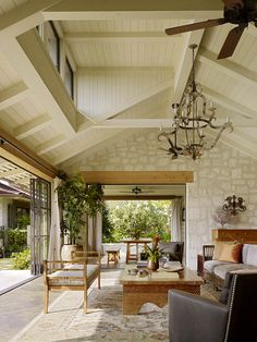 Love the outside-in feel.  Putting on a New Face | Work | Philpotts Interiors | Hawaii Interior Design Firm | Honolulu - San Francisco