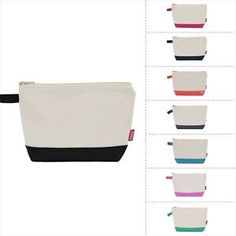 Jute Canvas Large Cosmetic Toiletry Bag Travel Pouch   eBay
