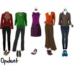 Opulent - Deep (lots of black), moderate chroma, Neutral-Warm (coolish equivalent is Mysterious)
