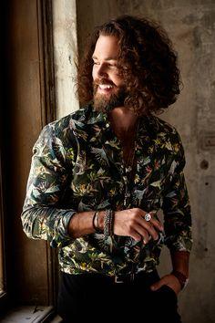 Long Hair Beard, Grow Long Hair, Long Curly Hair, Hair And Beard Styles, Curly Hair Styles, Curly Wurly, Beard Man, Viking Beard, Men Hair Color
