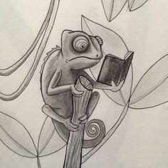 Chameleon illustration. Prairie Kate Creations by Katy Higgins. #prairiekate