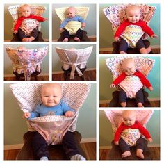 The Portable Anywhere Highchair - Custom - Reversible Fabric High Chair. That's the greatest ideas ever!