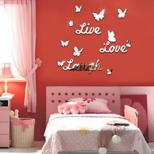 Live Laugh Love Quote Vinyl Wall Decal Stickers Mirror Home room...