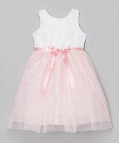 Pink Floral Ballerina Dress - Girls