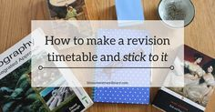 How to make a revision timetable and stick to it - it's one thing to make a revision timetable. It's quite another to stick to it. However, a revision plan you don't stick to is just a elaborate exercise in procrastination. Click to see how to make it worth your while. #revision #studytips #revisiontimetable
