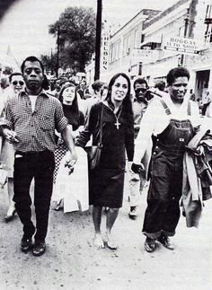 Baldwin at the original March at Selman.