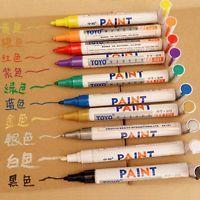 Waterproof Permanent Paint Marker Medium Tip Oil Based Scrawl Ink Pens 8 Colors