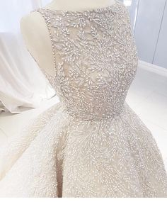 Sleeveless bridal gowns are available. This ball gown hass intricate beading all over the entire Get this remade as shown or with changes. We are a Source by darius_custom_wedding_dresses dresses fashion Custom Wedding Dress, Dream Wedding Dresses, Bridal Dresses, Wedding Gowns, Bridal Gown Styles, Wedding Lace, Ball Dresses, Ball Gowns, Evening Dresses