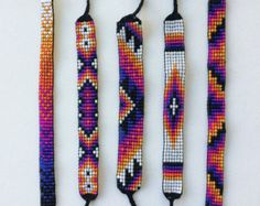 Bead Loom Friendship Bracelets by MichikoJewelry on Etsy
