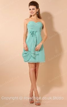 Pretty Strapless Sweetheart Pleated A-line