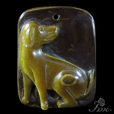 UNIQUE JEWELRY ACCESSORY PENDANT HAND CARVED DOG TIGER'S EYE STONE H30588 #ZL #Pendant