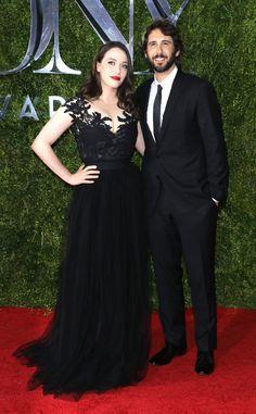 Kat Dennings & Josh Groban from 2015 Tony Awards Red Carpet Arrivals   E! Online