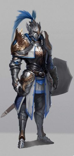 f Paladin Plate Armor Helm Shield Sword Traveler urban City lg Fantasy Character Design, Character Concept, Character Inspiration, Character Art, Fantasy Inspiration, Fantasy Warrior, Warrior King, Woman Warrior, Dnd Characters