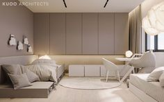 A super swanky interior awaits us in this ritzy home near London, UK, visualised by Polish firm KUOO Architects. The enormous project is filled wall to wall wit Futuristisches Design, Gray Dining Chairs, Interior Architecture, Interior Design, Uk Homes, Kids Room Design, My Room, Kids Bedroom, Software