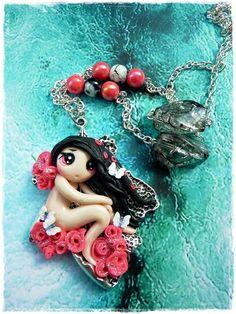 rosenblatt dolly pink  von Marions Traumlädchen auf DaWanda.com