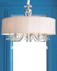 John-Richard Collection Silver-Plated Chandelier - Horchow