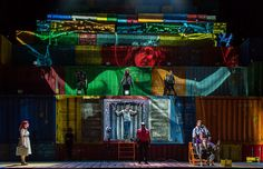 Rise and Fall of the City of Mahagonny.  Royal Opera House. Scenic design by Es Devlin. Projections by Finn Ross.