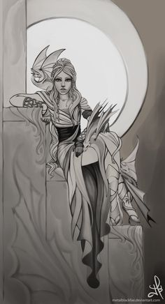 Mother of Dragons-sketch by Metalblackfae.deviantart.com