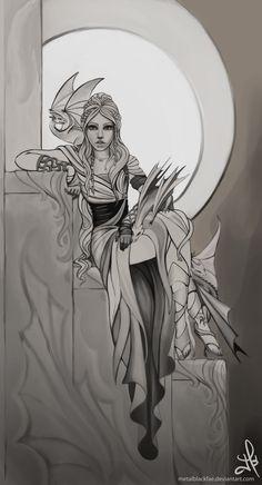 Mother of Dragons-sketch by Metalblackfae.deviantart.com