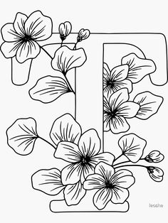 Chibi Coloring Pages, Pattern Coloring Pages, Colouring Pages, Printable Coloring Pages, Coloring Books, Embroidery Alphabet, Hand Embroidery Patterns, Flower Coloring Sheets, Different Lettering