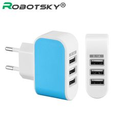 3 Port Phone Charger Universal USB Charger